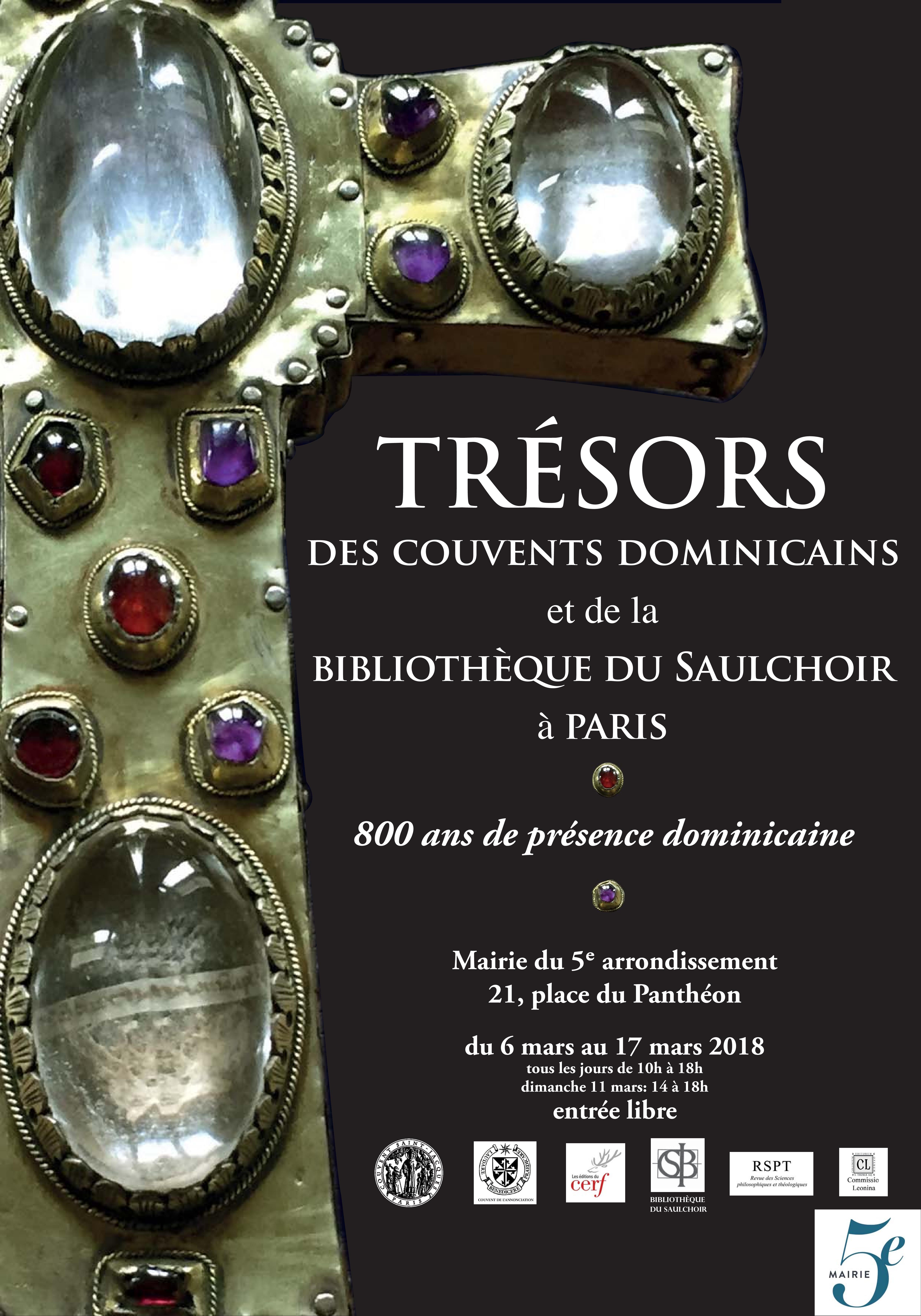 Affiche exposition Trésors des couvents dominicains